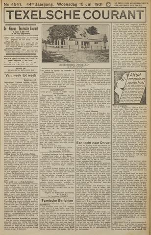 Texelsche Courant 1931-07-15