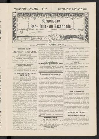 Bergensche bad-, duin- en boschbode 1926-08-28