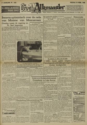 De Vrije Alkmaarder 1949-02-18