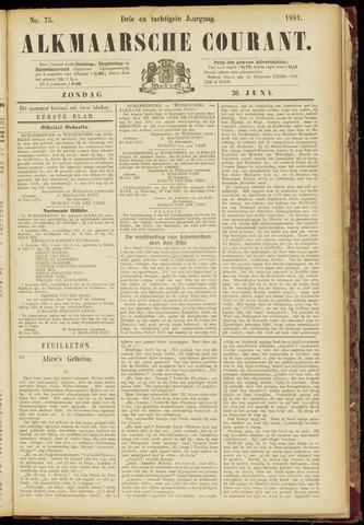 Alkmaarsche Courant 1881-06-26