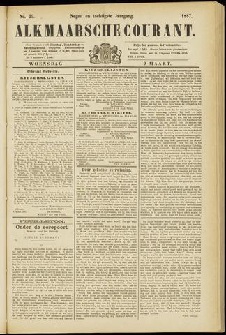 Alkmaarsche Courant 1887-03-09