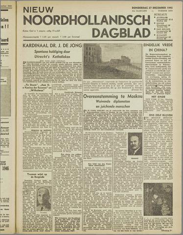 Nieuw Noordhollandsch Dagblad : voor Alkmaar en omgeving 1945-12-27