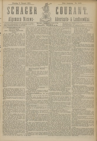 Schager Courant 1911-01-17