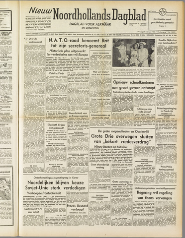 Nieuw Noordhollandsch Dagblad : voor Alkmaar en omgeving 1952-02-26