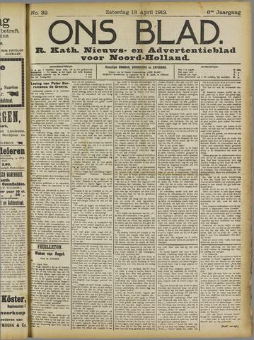 Ons Blad : katholiek nieuwsblad voor N-H 1912-04-13