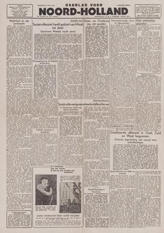 Dagblad Noord-Holland, Schager editie 1944-06-28