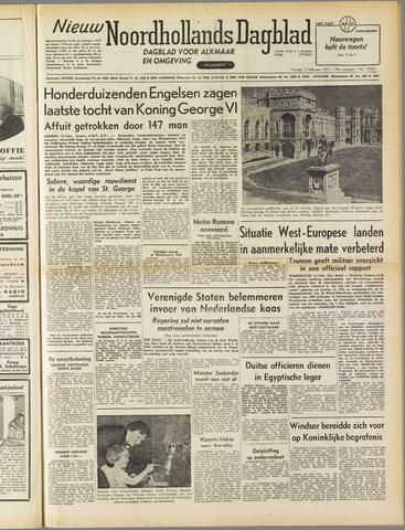 Nieuw Noordhollandsch Dagblad : voor Alkmaar en omgeving 1952-02-15
