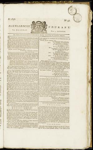 Alkmaarsche Courant 1836-10-03