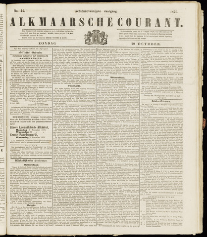 Alkmaarsche Courant 1876-10-29