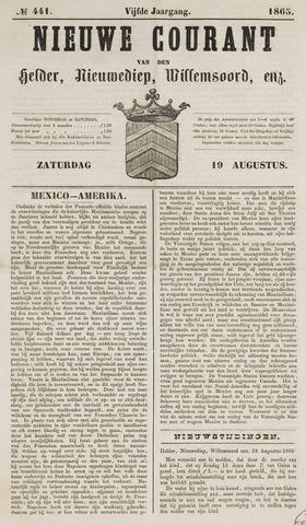 Nieuwe Courant van Den Helder 1865-08-19