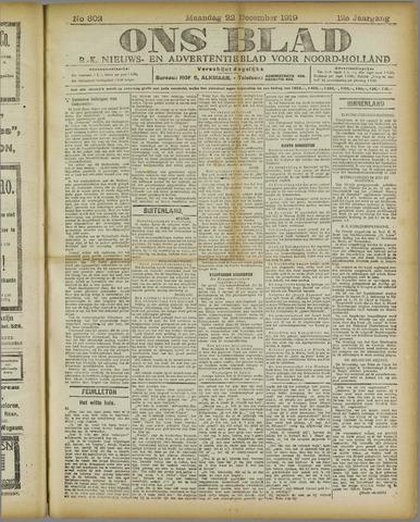 Ons Blad : katholiek nieuwsblad voor N-H 1919-12-22
