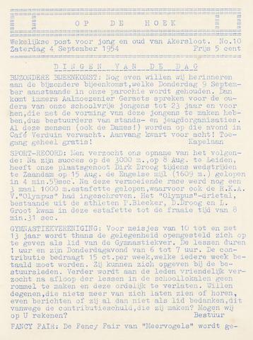 Op De Hoek, weekblad voor Akersloot 1954-09-04