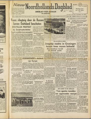Nieuw Noordhollandsch Dagblad : voor Alkmaar en omgeving 1952-04-30