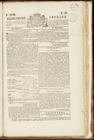 Alkmaarsche Courant 1849-09-17