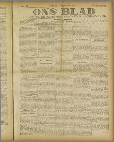 Ons Blad : katholiek nieuwsblad voor N-H 1919-08-01