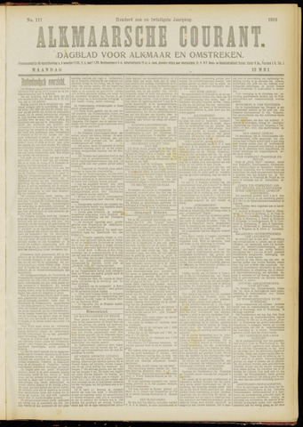 Alkmaarsche Courant 1919-05-12