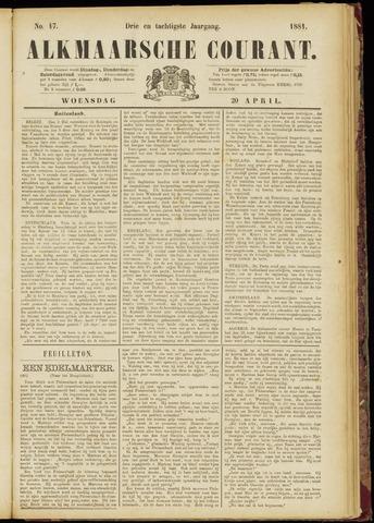 Alkmaarsche Courant 1881-04-20