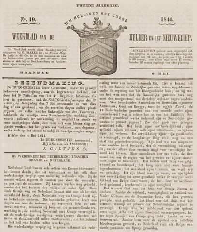 Weekblad van Den Helder en het Nieuwediep 1844-05-06