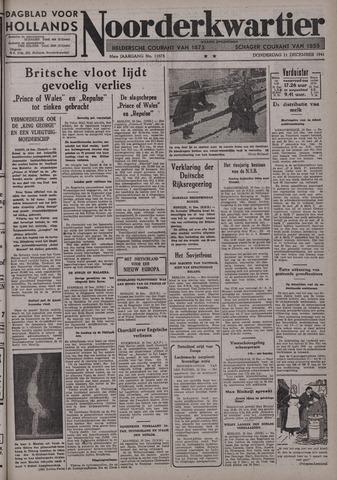 Dagblad voor Hollands Noorderkwartier 1941-12-11