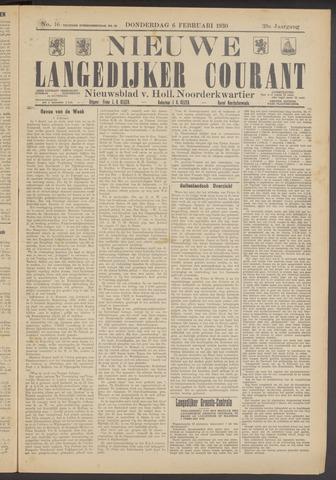 Nieuwe Langedijker Courant 1930-02-06