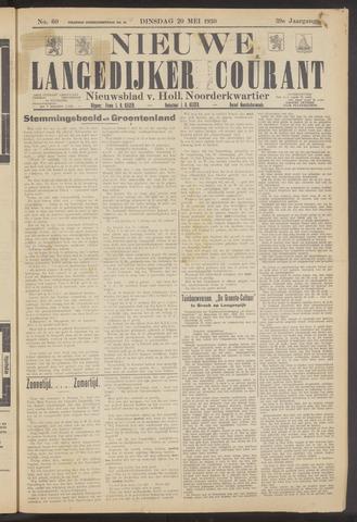 Nieuwe Langedijker Courant 1930-05-20