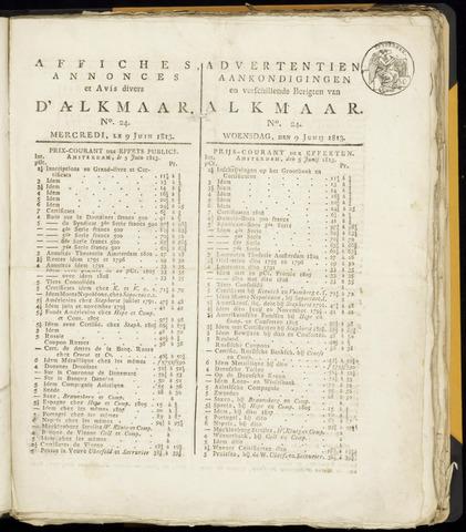 Alkmaarsche Courant 1813-06-09