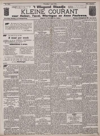 Vliegend blaadje : nieuws- en advertentiebode voor Den Helder 1914-04-01