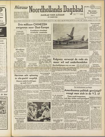 Nieuw Noordhollandsch Dagblad : voor Alkmaar en omgeving 1951-08-29