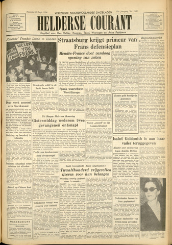 Heldersche Courant 1954-09-20