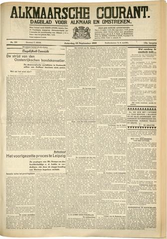 Alkmaarsche Courant 1933-09-23