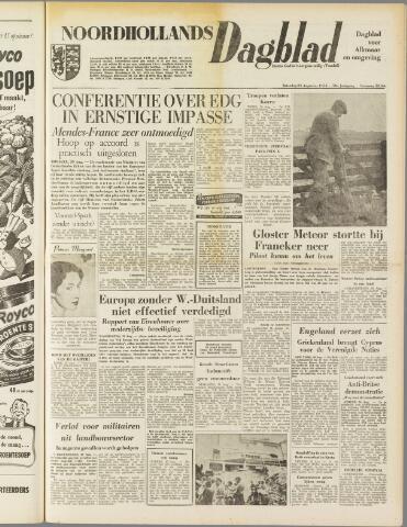 Noordhollands Dagblad : dagblad voor Alkmaar en omgeving 1954-08-21