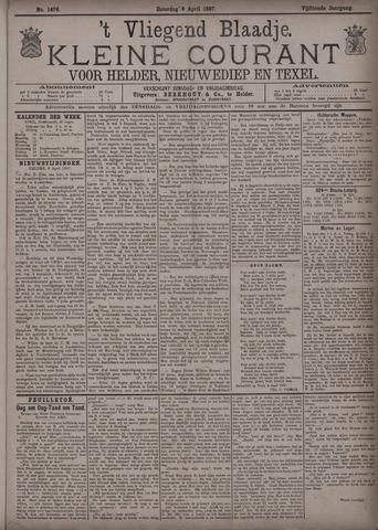 Vliegend blaadje : nieuws- en advertentiebode voor Den Helder 1887-04-09