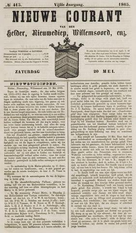 Nieuwe Courant van Den Helder 1865-05-20