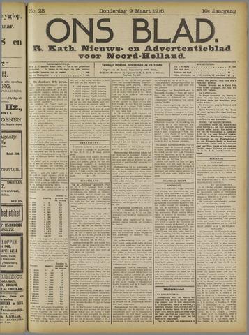 Ons Blad : katholiek nieuwsblad voor N-H 1916-03-09