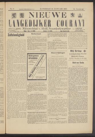 Nieuwe Langedijker Courant 1933-01-21