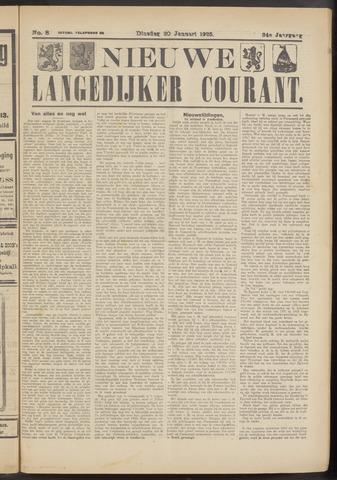 Nieuwe Langedijker Courant 1925-01-20