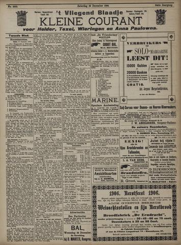 Vliegend blaadje : nieuws- en advertentiebode voor Den Helder 1906-12-22