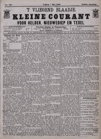 Vliegend blaadje : nieuws- en advertentiebode voor Den Helder 1880-05-07