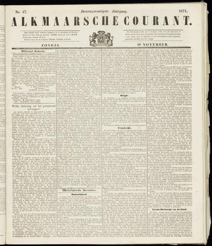 Alkmaarsche Courant 1871-11-19