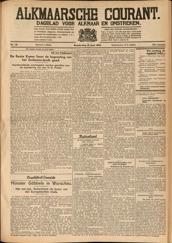 Alkmaarsche Courant 1934-06-14