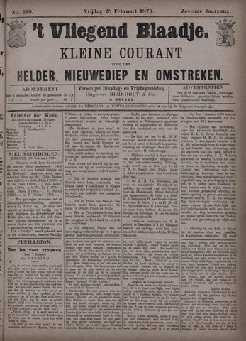 Vliegend blaadje : nieuws- en advertentiebode voor Den Helder 1879-02-28
