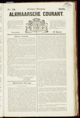 Alkmaarsche Courant 1858-03-29