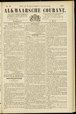 Alkmaarsche Courant 1889-05-03