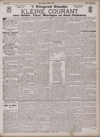 Vliegend blaadje : nieuws- en advertentiebode voor Den Helder 1904-03-30