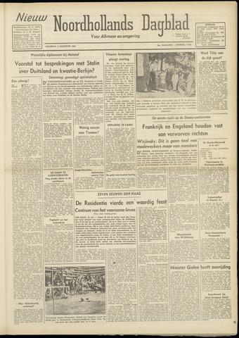 Nieuw Noordhollandsch Dagblad : voor Alkmaar en omgeving 1948-08-02