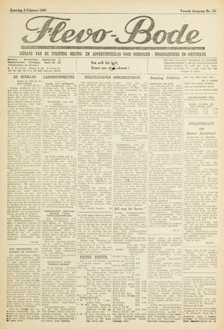 Flevo-bode: nieuwsblad voor Wieringen-Wieringermeer 1947-02-08