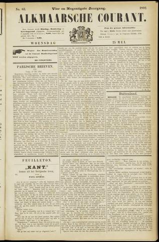 Alkmaarsche Courant 1892-05-25