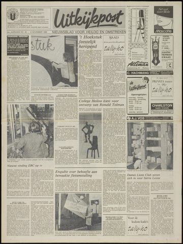 Uitkijkpost : nieuwsblad voor Heiloo e.o. 1989-11-15