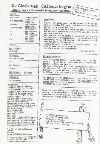 De Clock van Callens-Ooghe 1987-03-01