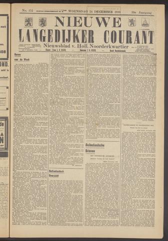 Nieuwe Langedijker Courant 1930-12-24